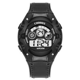 mens large sport watches Canada - Top Brand Black Mens Fashion Large Face LED Digital Climbing Outdoor Man Sports Watches Christmas Boys Gift