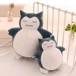 Discount japanese anime pillows - Cute Big Snorlax Anime Plush Toys Lovely Cartoon Japanese Soft Large Pillow Stuffed Animal Doll Gift for Children Dropsh