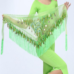 $enCountryForm.capitalKeyWord NZ - Hip Scarf Chiffon Coins Tassels Sequins Triangle Skirt Belly Dance Costume