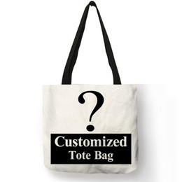 $enCountryForm.capitalKeyWord Australia - Personal Customize Women Tote Bag Linen Canvas Bag With Print Logo Custom Your Pictures Shopping Bags Cotton SH190725