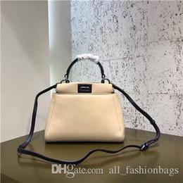 Ladys Pink Handbags Australia - 100% Authentic Origianl Qualitytwo-tone Sheepskin Peekaboo 2590 Women Ladys Shoulder Bags Designer Bag Fashion Tote Handbags