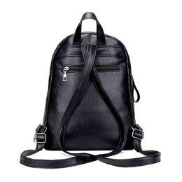 China Women Backpacks Bags Handbags Women Famous Brands Popular Girl Folds Soft PU Leather Black Shoulder Bag Female School Bags cheap popular backpacks brands suppliers