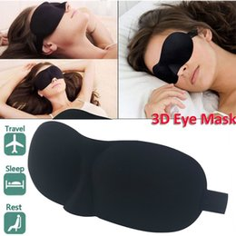 Wholesale High quality D Sleep Mask Natural Sleeping Eye Mask Eyeshade Cover Eye Patch Travel Goggles Rest Relax Sleeping Blindfold