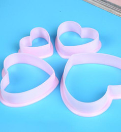 Heart Shaped Cutters Australia - 4pcs set new love cookie cutters heart-shaped plastic abrasives baking tools fondant cake clay mold creative fashion home kitchen baking