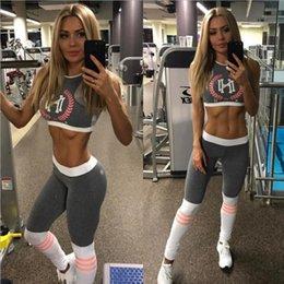 $enCountryForm.capitalKeyWord Australia - Summer US Lady Gym tracksuit New trend print Camis and leggings sets Cotton Blended High waist Elastic slim women sportwear Fitness Clothing