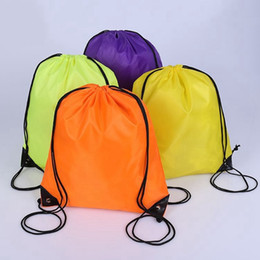 Wholesale Kids Clothes Shoes Australia - Backpacks Solid Color Drawstring Bag Monogrammable Kids Clothes Shoes Backpacks Sport Gym Bags for FITNESS YOGA RUNNING OEM Available YW3753
