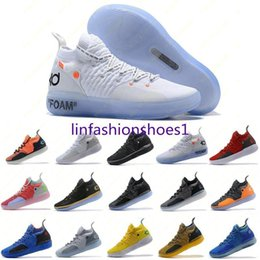 original basketball shoes NZ - Mens Trainers New Kd 11 Ep White Orange Foam Pink Paranoid Oreo Ice Basketball Shoes Original Kevin Durant Xi Kd11 Sneakers Size 7 -12