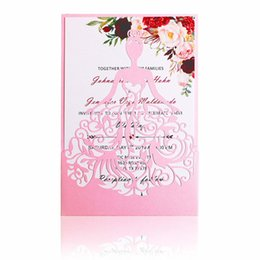 China 2019 New Pink Laser Cut Crown Princess Invitations Cards For Birthday Sweet 15 Quinceanera, Sweet 16th Invites Wedding Invitation suppliers