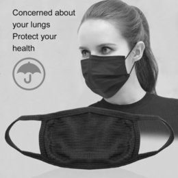 Boys Black Face Mask Australia - Black Mouth Masks Unisex Mens Womens Cycling Wearing Anti-dust Cotton Face Mask Respirator Breathing Air Pollution Filter