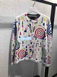 $enCountryForm.capitalKeyWord NZ - Women Knitted Jackets Casual Womens Brand Designer Sweaters Jacket Luxury Geometric patterns printing v-neck towel Knit Cardigan Coat