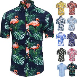 bb1d9008 100% Cotton Mens Hawaiian Shirts Male Casual Camisa Masculina Printed Beach  Shirts Aloha Short Sleeve Summer Party Shirt