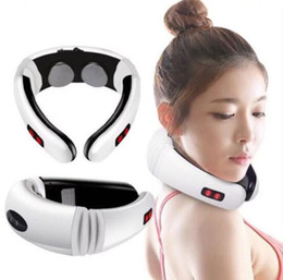 Electric Pulse Back and Neck Massager Far Infrared Heating Pain Relief Health Care Relaxation Tool Intelligent Cervical Massager on Sale