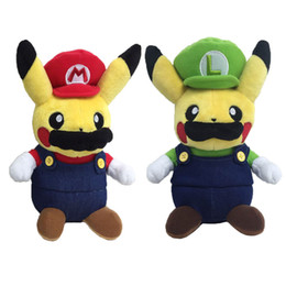 $enCountryForm.capitalKeyWord Australia - 20cm Anime Cartoon Pikachu Cosplay Mario Kids Plush Toys Soft Stuffed Dolls For Children Best Toy Gifts Wholesale
