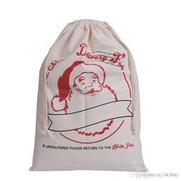 $enCountryForm.capitalKeyWord UK - DHL free shipping Christmas gift bags santa sacks large canvas bag drawstring bag with reindeers 35 colors for kids