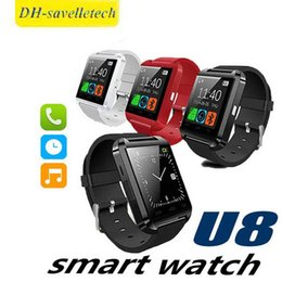 bluetooth smart watch sim Australia - Bluetooth Smart Watch U8 Smart Wear Wireless Bluetooth Touch Screen Smart Watch with Android Card IOS Phone SIM Card Slot