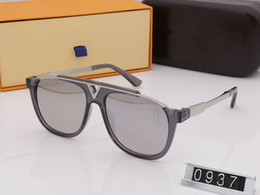 man boxes Canada - 0937 Luxury With original boxes Sunglasses full frame Vintage designer sunglasses for men and women Hot sell Gold plated Top
