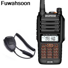 Portable cb online shopping - 2pcs Baofeng UV R Waterproof Walkie Talkie W Two Way Radio Dual Band Handheld km Long Range UV9R CB Ham Portable Radio