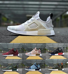 ec52e416f7eaf 2019 NMD XR1 Running Shoes Mastermind Japan Skull Fall Olive green Camo  Glitch Black White Blue zebra Pack men women sports shoes 36-45