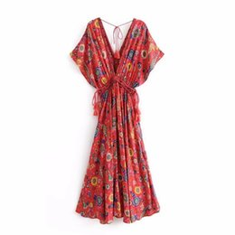 $enCountryForm.capitalKeyWord UK - 2019 spring and summer European and American classic fashion women's dress Bohemian style fringed long skirt with printed dress