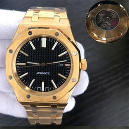 $enCountryForm.capitalKeyWord Australia - Luxury men's watch automatic mechanical movement blue dial stainless steel bezel folding buckle strap rose gold sports watches