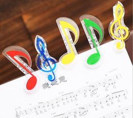 music notes clef Canada - Plastic Music Note Clip Piano Book Page Clamp Musical Treble Clef Clips Wedding Birthday Party Favor Gifts ZA5788