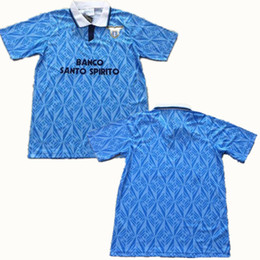 Chinese  1991 1992 Lazio Retro Soccer Jerseys 91 92 Lazio Riedle Doll Sosa Stroppa Soccer Shirt Customized Football uniform maillot de foot thailand manufacturers