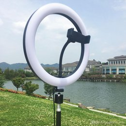Dimmable LED Studio Camera Ring Light Phone Video Selfie Light Lamp With Tripod Phone Holder Table Fill Light For Studio Live Makeup USB on Sale