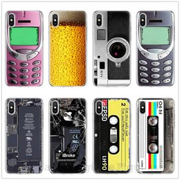 Nastri Retro Camera cassette Calculator Keyboard telefono molle Fundas di caso per iPhone Pro 11 MAX XS Max X XR 6 7 8 6S Plus 5 5S SE
