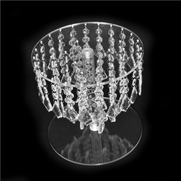 fairy cupcakes Australia - Wedding Crystal Round Bling Chandelier Cake Stand Transparent Cascading Cupcake Stand Wedding Party Cake Tower Display Centerpieces