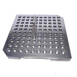 $enCountryForm.capitalKeyWord UK - Ecig Accessories 7.5*7.5 inches Vape Pod Cartridge Aluminum Tray 100 Holes Custom Fit G5 M6T Dank vapes Holder Filling Oil Machine