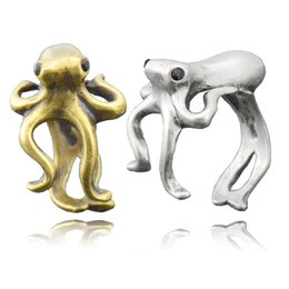 $enCountryForm.capitalKeyWord UK - Boho Cute Funny Octopus & Sea Animal Couple Ring For Women Anel sleeve-fish Metal Wrap Ring Men Jewelry Best Gifts For Girls Kids Wholesale