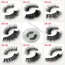 mink false eyelashes wholesale Australia - 55 Styles Individual Mink Lashes 3D False Eyelashes Natural Long Invisible Thick Band Stage Lashes Curl Soft Extensions Circle Box