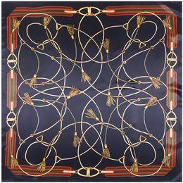 $enCountryForm.capitalKeyWord Australia - 2019 high qualtiy silk scarf size 90cm*90cm new rope chain tassel silk scarf fashion woman scarves MY899