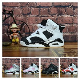 43ccca8219eb7b 6s Kids basketball shoes Infrared Black Cat Carmine Valentines Day Pink  Trainers Sports Shoes Designer sneakers with box size us11c-3y