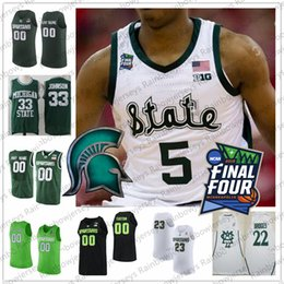 basketball jersey numbers Australia - Custom Michigan State Spartans 2019 Final Four College Basketball Jersey Any Name Number 5 Cassius Winston 20 Matt McQuaid MSU S-4XL