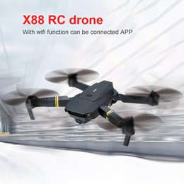 flashing helicopter toy Australia - X88 Wifi FPV Foldable RC Drone with HD Camera Altitude Hold Headless Mode RC Helicopter Aircraft Airplane Toys