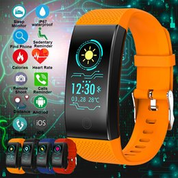 $enCountryForm.capitalKeyWord Australia - QW18 Screen Smart Wristband Bracelet Heart Rate Monitor IP68 Waterproof Fitness Tracker Band Bluetooth 4.0 Sports Wristbands With Retail Box