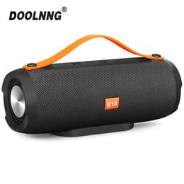 Опт DOOLNNG Беспроводная Bluetooth-динамик Портативный стерео Big Power 10 Вт Наружные колонки TF FM-радио AUX Music Sound bar Для телефонов ПК
