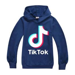 Wholesale 4t yellow hoodie for sale – designer Tiktok Sweatshirt For Big Boy Girl Clothes Tik Tok Fall Winter Children Hooded Letter Hoodies Kid Sport Cotton Sweater Clothing
