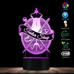 $enCountryForm.capitalKeyWord NZ - Tailor Shop Designed Visual Lamp Modern LED Night Light Table Lamp Profession Needlework Sewing Clothes Shop Decorative Lighting