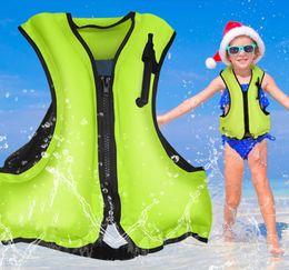 Kids swimming vests online shopping - Fishing Life Vest Adult kids Inflatable Swim Vest Life Jacket Water Sport Life Saving Swimming Survival Vest Water Sports device