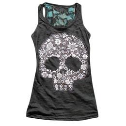 Punk Skull Shirt Australia - 2018 Women Tank Tops Summer Vest Punk Rock Skull Print Tank Casual Sleeveless T-shirt Women Clothing Lj8813m Q190426