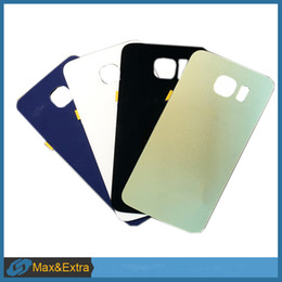 s6 back housing Australia - 10PCS Lot Original For Samsung Galaxy S6 G920 G920F Battery Cover Back Battery Door Rear Housing Cover Case With Adhesive
