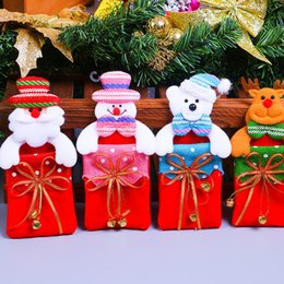 $enCountryForm.capitalKeyWord Australia - Cute Christmas Bag Santa Claus Bear Elk Snowman Small Christmas Gift Candy Bags Hanging Accessories Tree Docoration