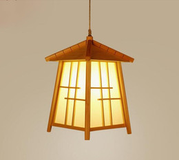 $enCountryForm.capitalKeyWord Australia - Wood House Shade Pendant Light Fixture Cord Japanese Modern Handmade Tatami Hanging Ceiling Lamp for Dining Table Room E27 Bulb LLFA