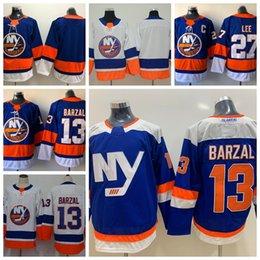2018 New York Islanders Hockey Jerseys Alternate 13 Mathew Barzal 27 Anders  Lee Home Royal Blue Cheap Stitched Jerseys C Patch d80b6fc7b