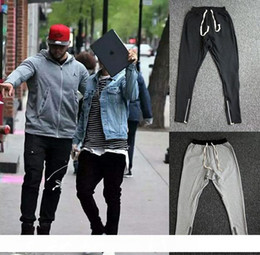 $enCountryForm.capitalKeyWord NZ - Drop ship Justin Bieber zippers jogger pants american high streetwear pants pencil pants for men wholesale support