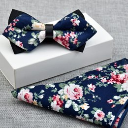 0696be0f811a Floral Classic 100%Silk Jacquard Woven Men Self Bow Tie BowTie Pocket  Square Handkerchief Suit Set