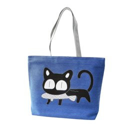 Cute Canvas Handbags Australia - Cheap Cute Cartoon Cat Bag Canvas Bags For Women Shoulder Bag Casual Women's Handbags Messenger Bags Bolsas Feminina Hot Sale