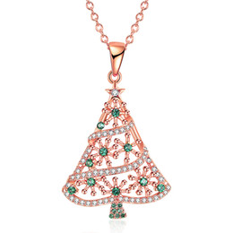 $enCountryForm.capitalKeyWord Australia - AIYANISHI Christmas Tree Pendant Necklace Gifts for Women Girls Daughter Christmas Tree Pendant Necklace